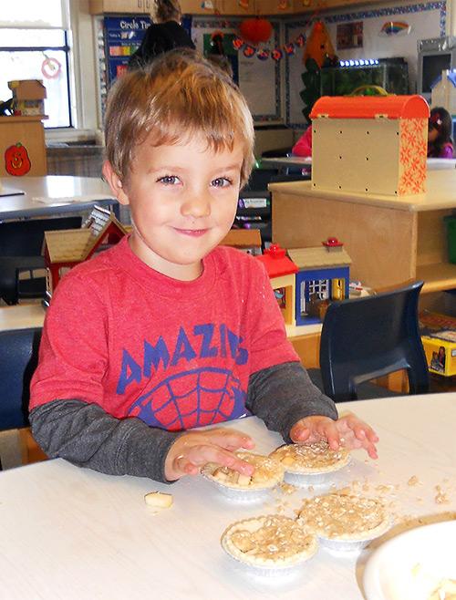 Whitehaven boy baking pies
