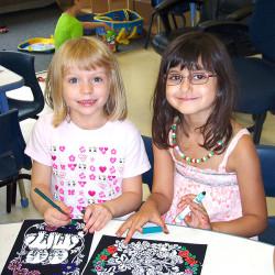 Whitehaven girls children colouring