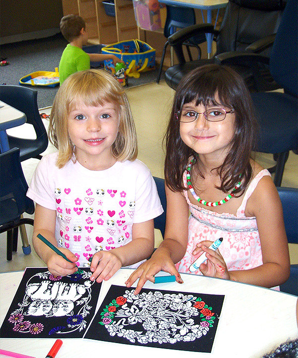 Whitehaven girls children colouring