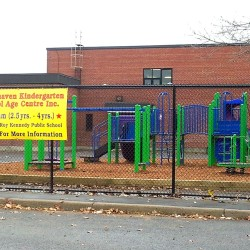 new play structure in the yard Whitehaven Kindergarten School Age Centre